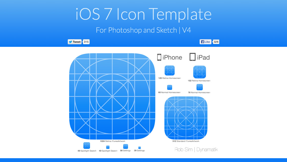 iOS 7 App Icon Template for Sketch