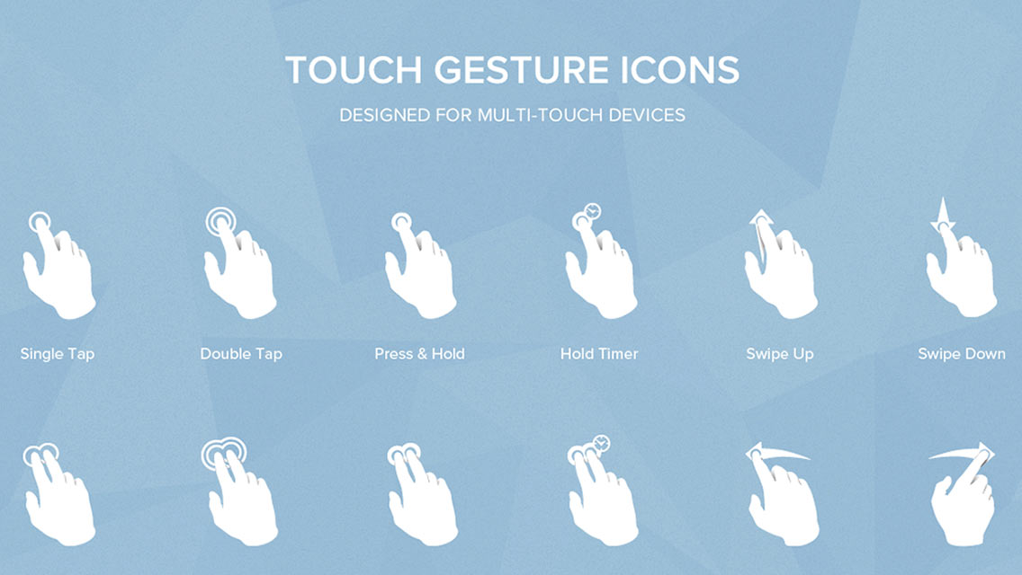 Touch Gesture Icon Pack V2